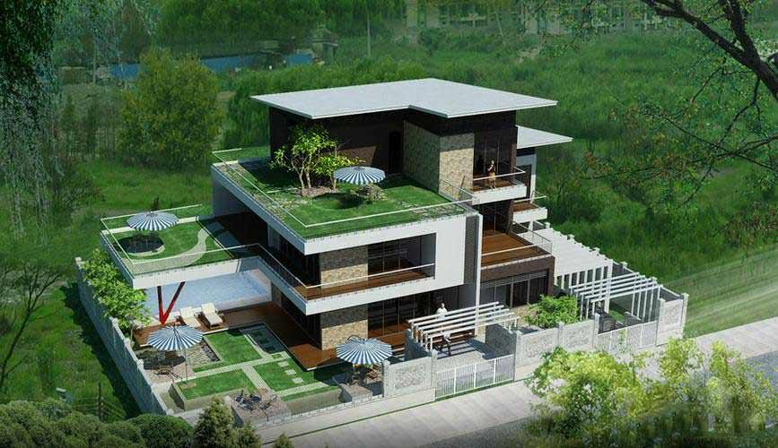 thiết kế kiến trúc biệt thự vườn