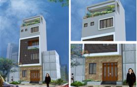 Thiết kế kiến trúc nhà phố 1 mặt tiền hiện đại và đơn giản