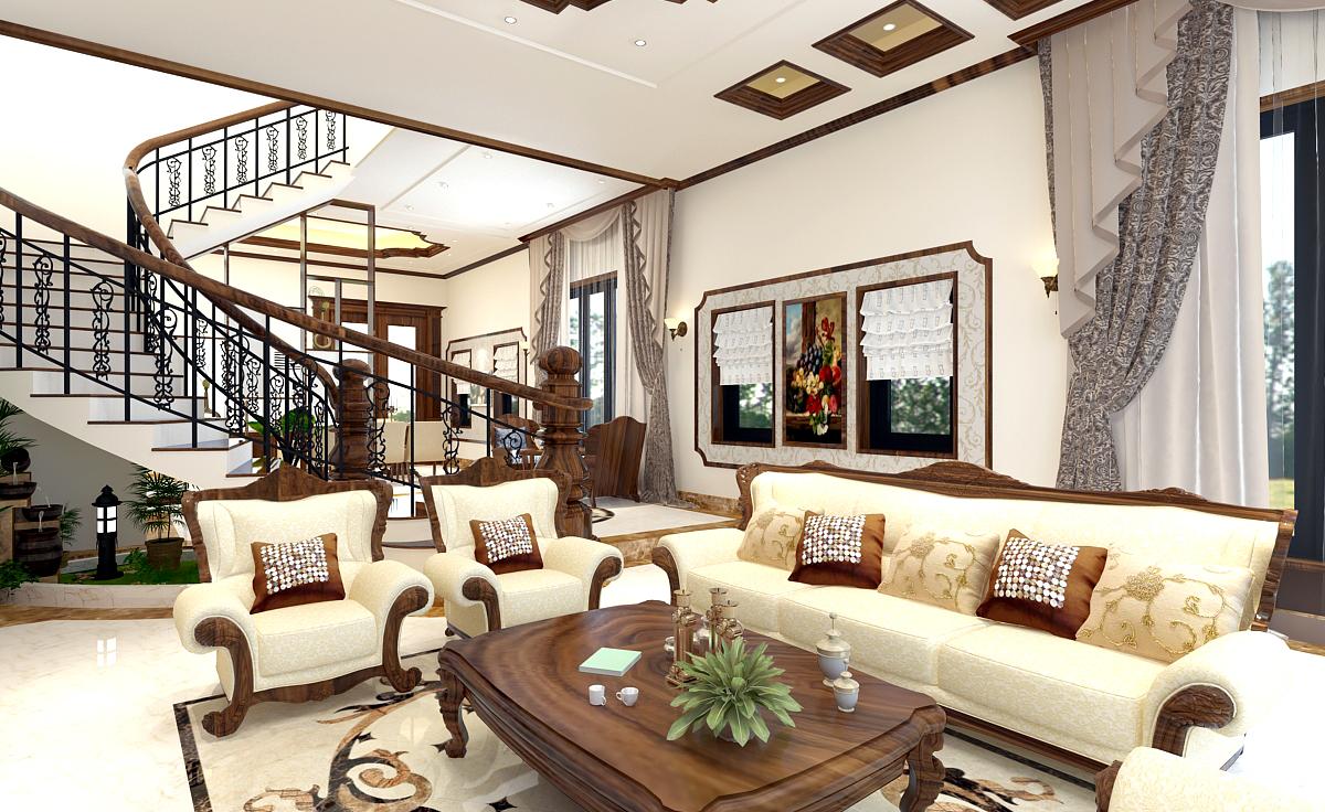 Nội thất tân cổ điển kết hợp hiện đại – KĐT The Manor Eco Lào Cai