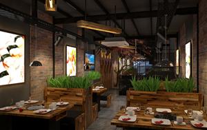 Nội thất nhà hàng nướng Hàn Quốc Yummy House