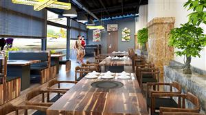 Thiết kế nhà hàng nướng V+ – Dưới chân tòa chung cư cao cấp