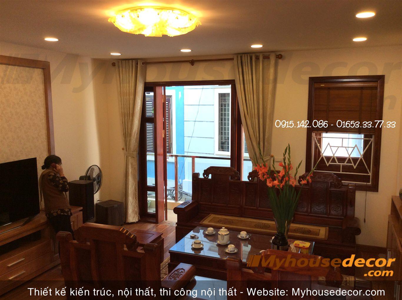 Thi công đồ gỗ nội thất phong cách Á Đông – Anh Minh Hồ Tây