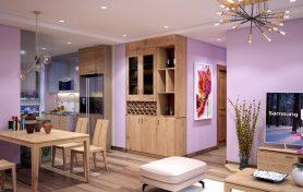 Gỗ sồi châu âu trong căn hộ chung cư 9 tầng hiện đại và cao cấp