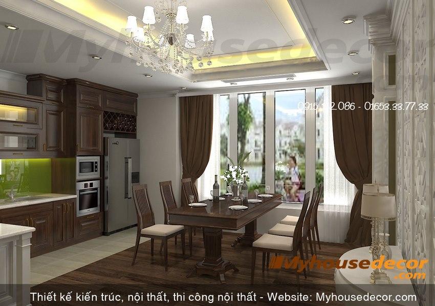 Phòng ăn, nhà bếp phong cách hiện đại