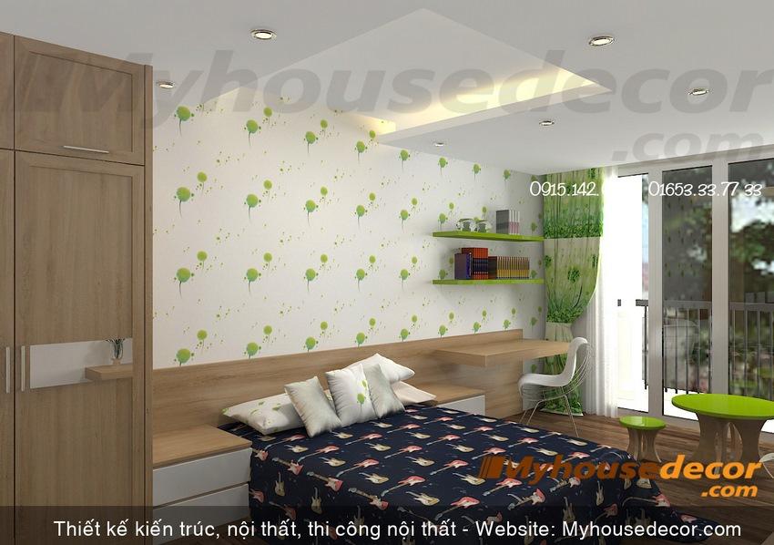 phòng ngủ con cái trong biệt thự