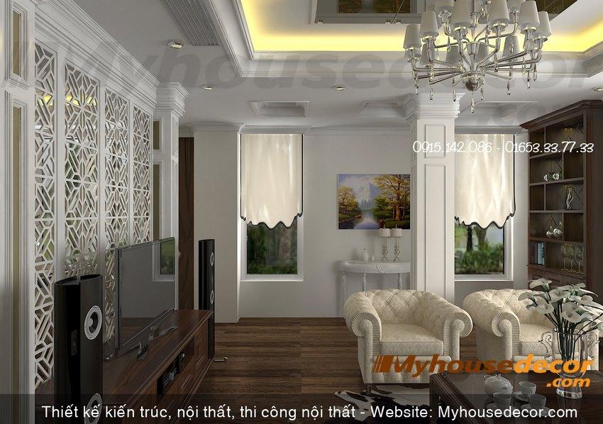 Phòng tiếp khách phong cách tân cổ điển