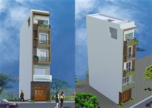 Thiết kế kiến trúc nhà phố hình số 9 hiện đại tại Hà Đông – Hà Nội