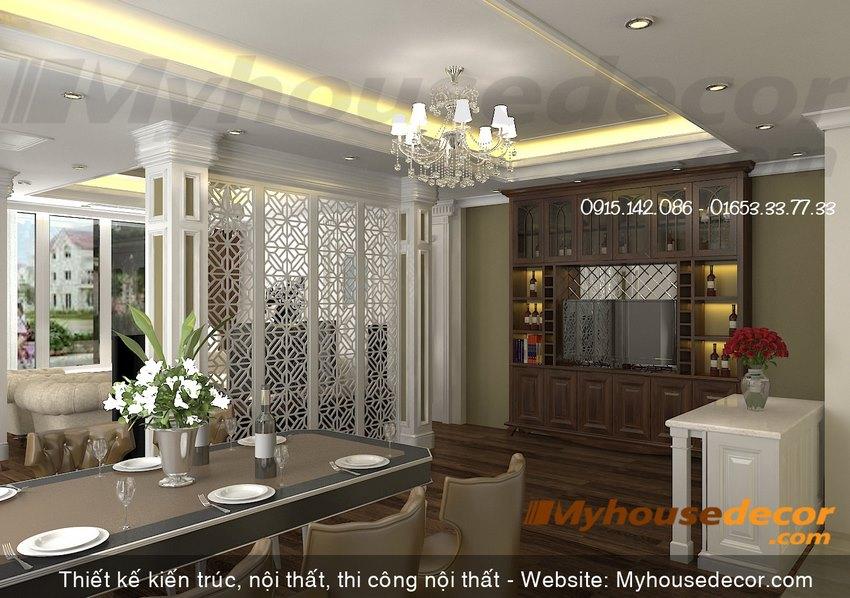Thiết kế nội thất phòng ăn phong cách cổ điển