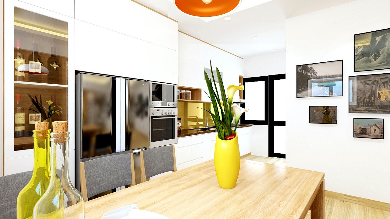Thiết kế nội thất chung cư CT4 KĐT Mỹ Đình – Lê Đức Thọ