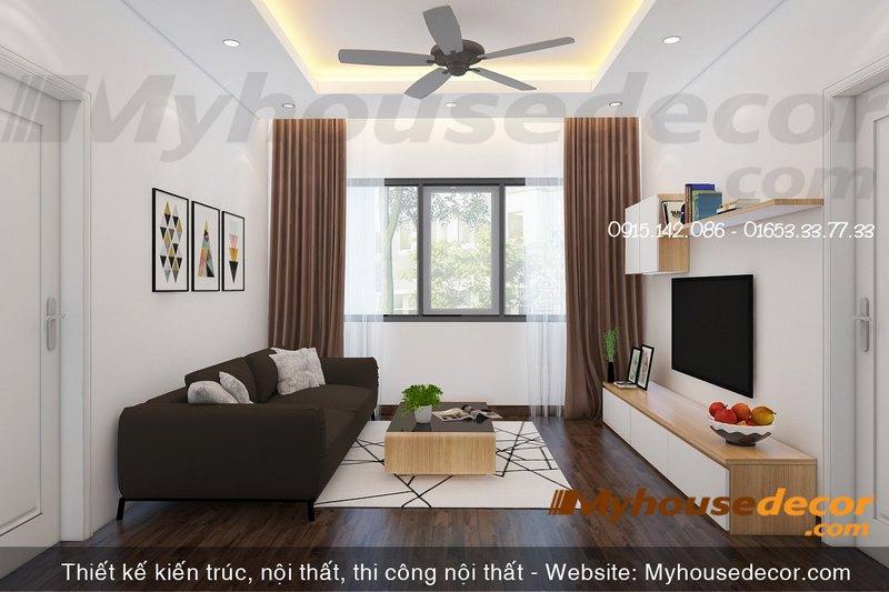 Thiết kế phòng khách tầng 3 căn hộ the Manor Eco+ Lào Cai