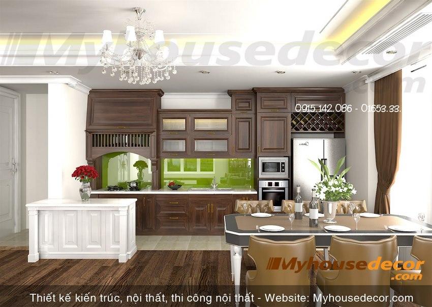 Thiết kế nội thất phòng ăn biệt thự