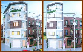 Thiết kế nhà góc phố 5 tầng hiện đại – Hưng Yên