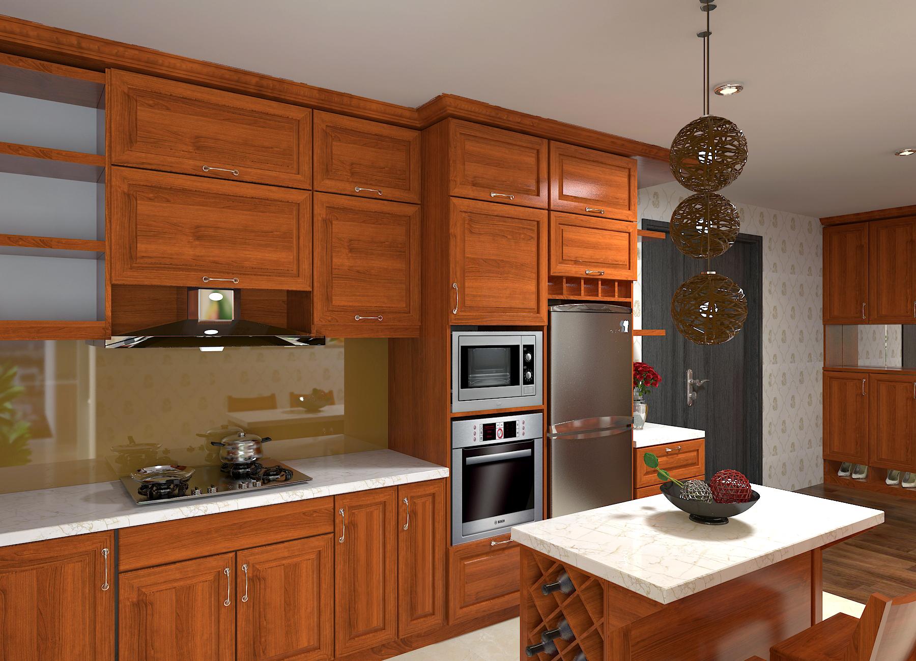Thiết kế nội thất chung cư 3 phòng ngủ với gỗ tự nhiên – Hòa Bình Green City