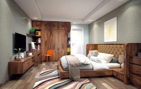Thiết kế nội thất chung cư cao cấp với gỗ óc chó