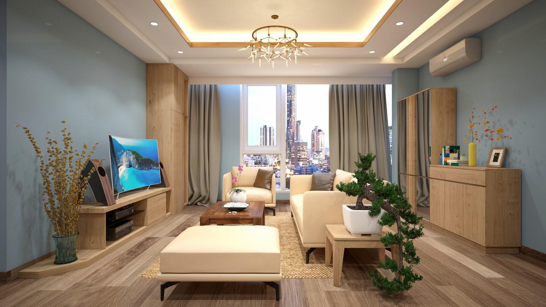 Nội thất căn hộ với gỗ sồi tự nhiên – Gỗ sồi đỏ châu âu