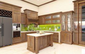 Các mẫu tủ bếp gỗ tự nhiên cao cấp