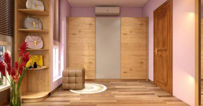 Căn hộ với thiết kế đơn giản và tinh tế với gỗ Sồi tự nhiên nhập khẩu