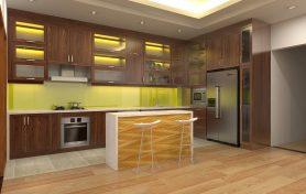Thiết kế thi công tủ bếp gỗ sồi mỹ – Nội thất MyHouseDecor